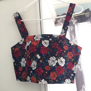 NWT Forever 21 Floral Crop Top